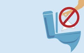 Illustration | Ne pas mettre les lingettes dans les toilettes